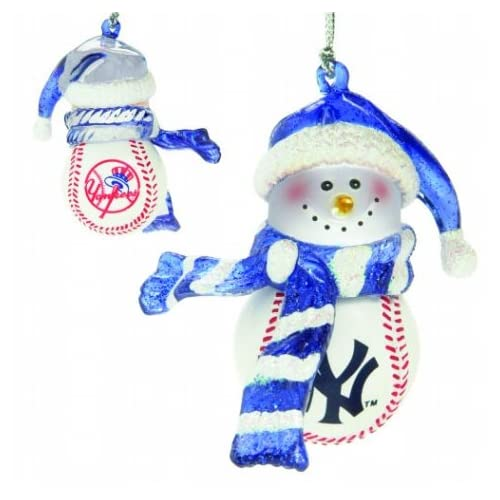 Scottish Christmas New York Yankees Home Run Snowman Ornament - Yankees Christmas Ornaments: Amazon.com