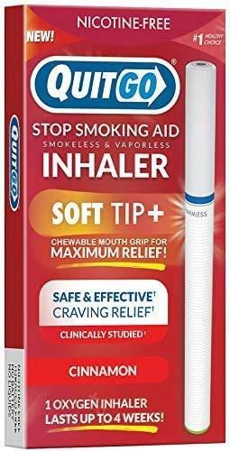 Quit Smoking Aid Oxygen Inhaler + Soft Tip Chewable