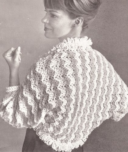Vintage Crochet PATTERN to make - Bed Jacket Shrug Sweater Wrap. NOT a finished item. This is a pattern and/or instructions to make the item only. ()