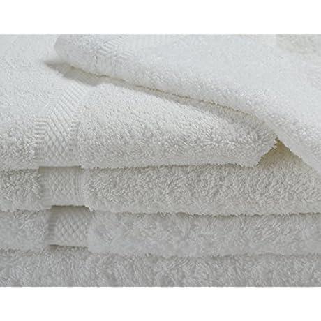 Hotel Oxford Imperiale Bath Towels 27x54 100 Premio Ringspun Cotton Dobby Border Dobby Edge White 3dz