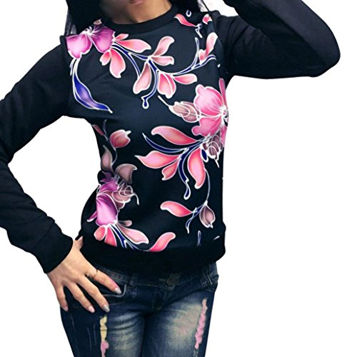 Hot Vovotrade Women's Sweatshirt Round Neck Red Printed Tops Blouse Casual T-Shirt supplier