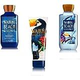 Bundle Pack Bath Body Works WAIKIKI BEACH COCONUT Body Lotion, Body Cream & Shower Gel TRIO Pack