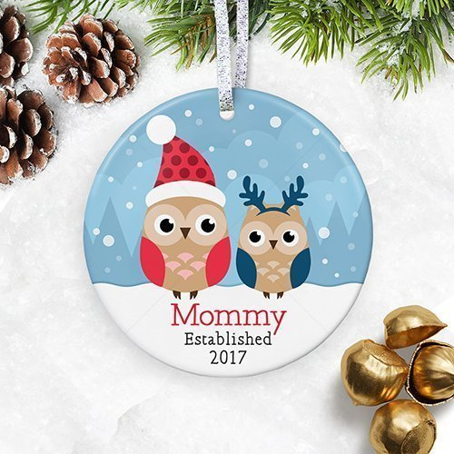 personalized new mommy christmas ornament mom est 2018 1st christmas as new mother