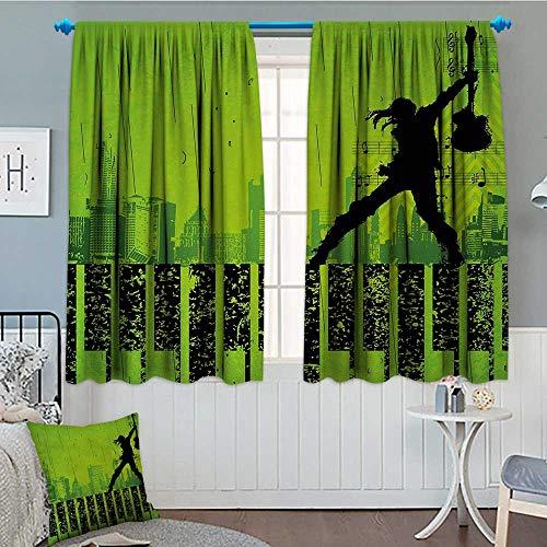 alilihome Popstar Party Waterproof Window Curtain Music in