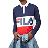 fila clothing - Fila Men's Harley Rugby Shirt, Navy, Chinese Red, White, L
