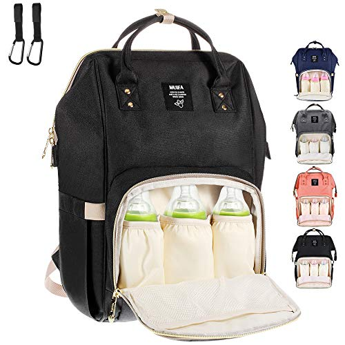 MUIFA Diaper Bag Backpack Multi-Function Waterproof Travel Backpack Nappy Bag for Baby Care with Insulated Pockets, Large Capacity, Durable