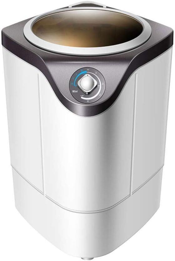 GSAGJxyj ミニ半自動洗濯機ポータブル洗濯機およびスピンドライヤー、家庭用省エネおよび環境保護小型洗濯機UV消毒 (Color : White)