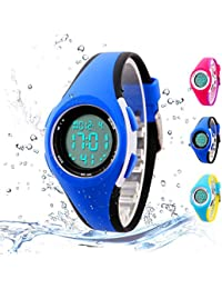 Kids Digital Sport Watch Outdoor Waterproof LED Watch...