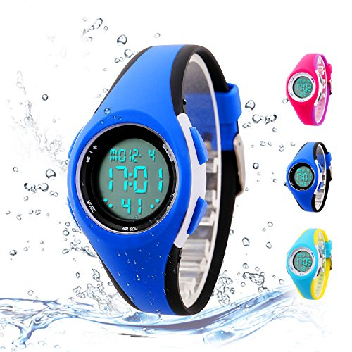 Kids Digital Sport Watch Outdoor Waterproof LED Watch with Alarm for Child Boy Girls Gift Kids Watch by Misskt