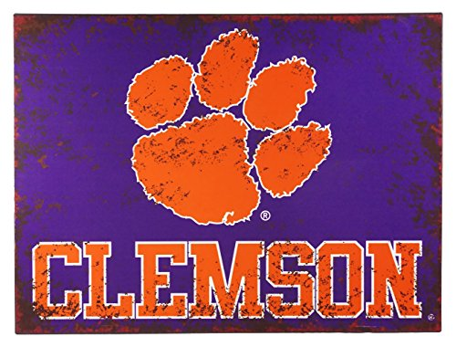 - Hanna's Handiworks Clemson University Distressed Metal Wall Sign
