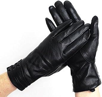 Bestselling Women's Winter Warm 3 button Leather Gloves,UK SELLER