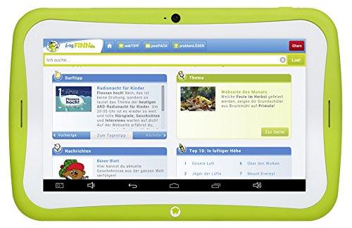 Blaupunkt Tablet PC 4Kids / Tablet PC für Kinder, ca. 17,8 cm (7 Zoll), Android 5.1, 8 GB, Eltern-Sicherheit-Funktion, fragFINN.de sichere Kindersuchmaschine vorinstalliert, grün (Kindgerechte Schutzhülle blau/pink)