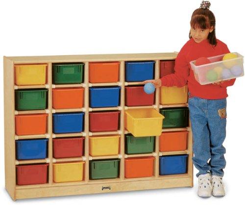 Jonti-Craft 0425TK 25 Cubbie-Tray Mobile Storage without Trays (25 Tray Storage)