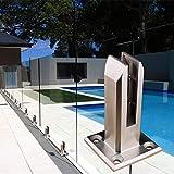 Stainless Steel Glass Clamp, Glass Spigot for Balusters Railing Post/Balcony/Terrace/Handrail Banister/Pool Frameless Fence Balustrade Panels