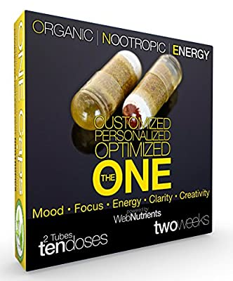 Organic Nootropic Energy - The Ultimate Nootropic Capsule for Optimizing Your Brain. 10-12+ Hours of Mental Stamina. No Jitters. Fast Acting. All Natural.
