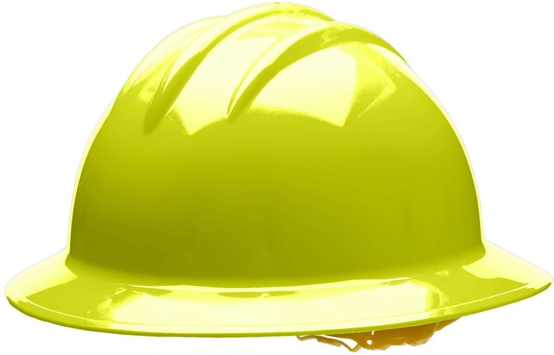 One Size Hi-Viz Yellow 6 Point Pin Lock Suspension Bullard 33HYP Classic Full Brim Style Hard Hat