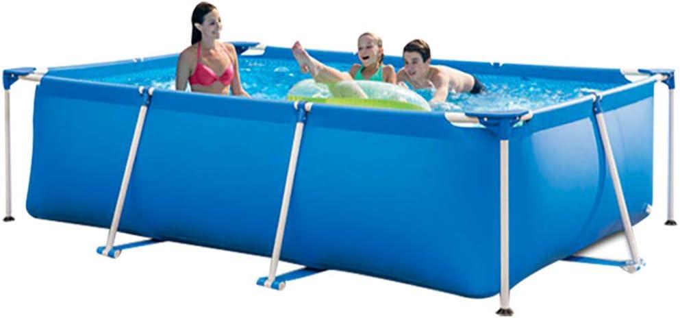子供および大人のための膨脹可能で簡単な取付けなしで大きいプールのプール、屋内および屋外の長方形のプール、青  2.6m