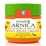 MaxRelief Pain Relief Cream - Australia's #1 - For Sufferers of Back, Neck, Knee, Joint & Muscle Pain. Reduce Arthritis Pain & Joint Inflammation Naturally. Sciatica & Fibromyalgia treatment. 3.5 oz