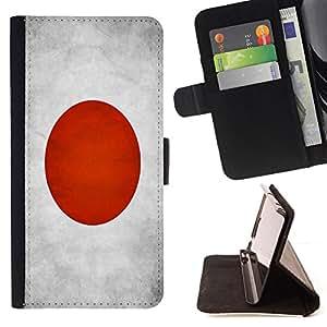 KingStore / Leather Etui en cuir / Samsung Galaxy S3 MINI 8190 / Nacional bandera de la nación País Japón