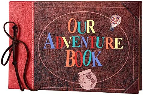 LINKEDWIN Our Adventure Book, Leather Cover with Convex