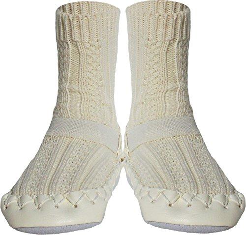 Konfetti Cable Knit Swedish Moccasin Slipper Socks by Konfetti (Image #8)