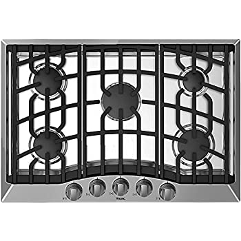 Amazoncom Viking 30 Natural Gas Cooktop Stainless Steel Simmer