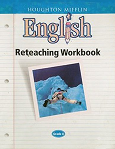 Houghton Mifflin English: Reteach Workbook Consumable Level 8