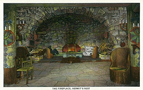 Grand Canyon National Park, Arizona - Interior View of the Fireplace at Hermit's Rest (12x18 Art Print, Wall Decor Travel Poster) by Lantern Press