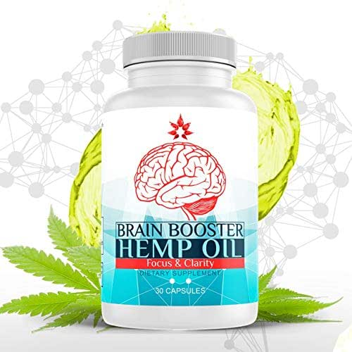 Hemp Oil Capsules - Hemp Extract for Pain, Stress & Anxiety Relief - Natural Sleep & Mood Support Rich in Omega 3, 6, 9 - Improves Focus, Clarity, Memory & Mental Performance Nootropic - 30 Hemp Pills