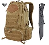 (US) Condor Titan Assault Pack (Brown) + FREE SOG Micron II Knife