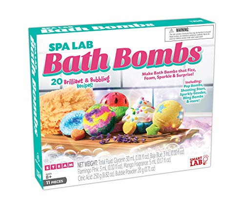 Spa Lab Bath Bombs - The Science Behind Bath Bombs - 20 Fizzy Recipes -Unlimited Experiments utilizing Common Household Items Available at Your Local Grocery Store- Hard-to-find Chemicals Included