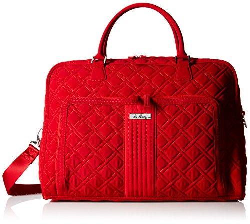 Vera Bradley Weekender, Microfiber,Tango Red,One Size