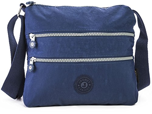 Lightweight Rainproof Pocket Cross Body Women Zip Small Fabric Multiple Shop Messenger Size Bag Shoulder Handbag Navy Big 04wHYY