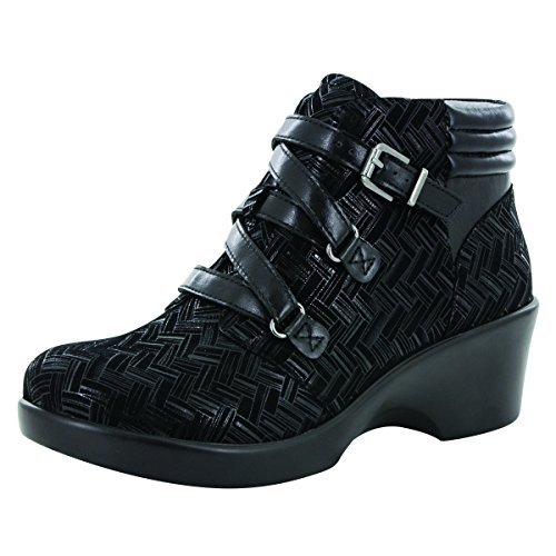 Alegria Womens Indi Ankle Boot Interlockin' Black Size 36 EU (6-6.5 M US Women)
