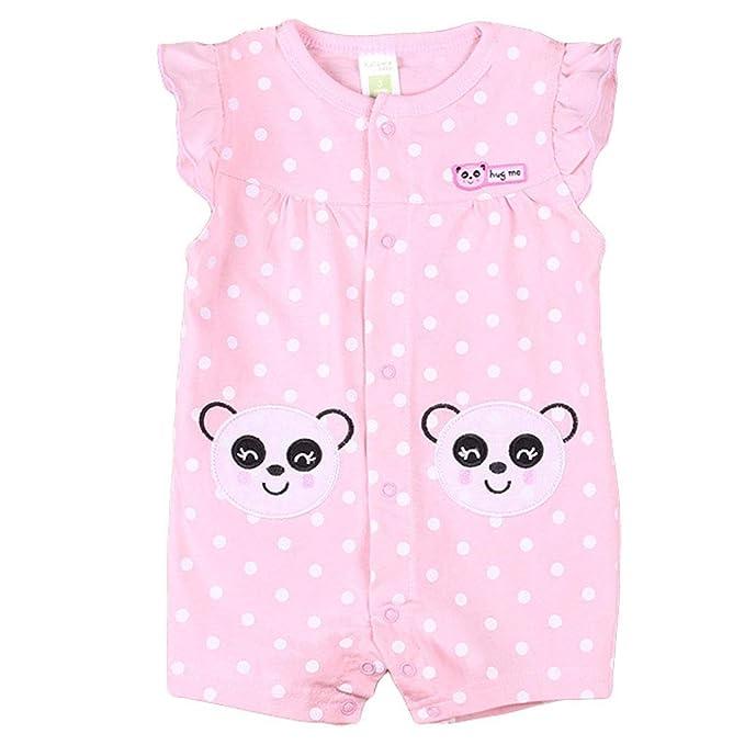 c848e2370 Bebé Mono Manga Corta Mameluco Verano Niñas Pelele Pijama de Algodón Trajes  Caricatura: Amazon.es: Ropa y accesorios