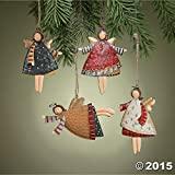 Dancing Tin Angels Christmas Tree Ornaments Decorations 12pc (Small Image)