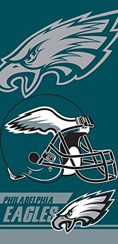 NFL Philadelphia Eagles Double Covered Beach Towel, 28 x 58-Inch