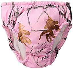 My Pool Pal Reusable Swim Diaper, Camouflage Snow Fall Pink, 18 Months