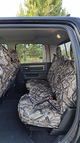 Durafit Seat Covers, D1339 Lost C, Seat Covers for 2011-2016 Dodge Ram 1500-3500 Crew Cab, Rear 40/60 Split Seat with...