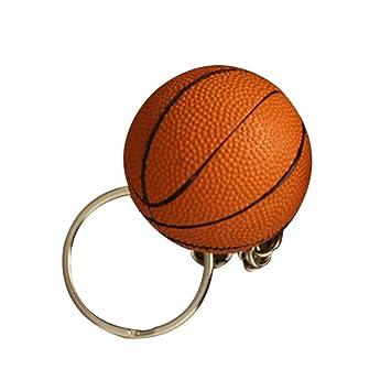 YeahiBaby Baloncesto Llavero Regalo para Baloncesto Fans Recuerdo Colgante de Bolsa 4 CM Colores Mezclados 4CM Superficie Aspera Naranja