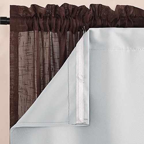 Nicetown Blackout Window Treatment Liners - Energy Saving Rod Pocket Blackout Curtains /Drapery Liner for 84 inch Curtain, 27