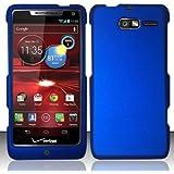 Importer520 Rubberized Snap-On Hard Skin Protector Case Cover for For (Verizon) Motorola Droid RAZR M 4G LTE XT907 - Blue