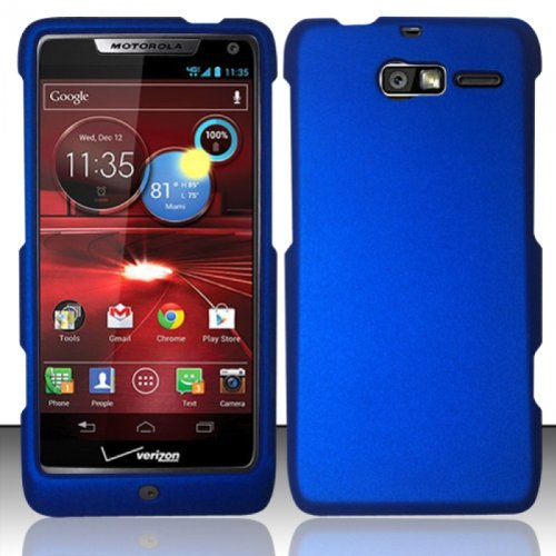 - Importer520 Rubberized Snap-On Hard Skin Protector Case Cover for For (Verizon) Motorola Droid RAZR M 4G LTE XT907 - Blue
