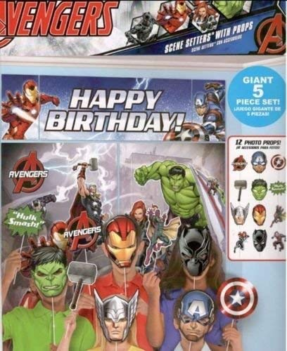 Marvel Avengers Scene Setters Wall Banner Decorating Kit Birthday Party Supplies