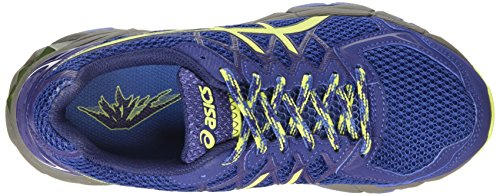ASICS - Gel-fujitrabuco 4, Zapatillas de Running mujer Azul (slate Blue/sharp Green/carbon 4285)
