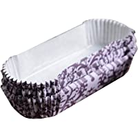 Bakerdream Disposable Oval Eclair Liners Loaf Liners Bread Wrapper Loaf Pan Cupcake Liners Oilproof Paper Baking Cups (Purple 100pcs)