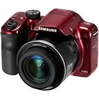 Samsung WB1100F 16.2MP CCD Smart WiFi & NFC Digital Camera (Red) (Certified Refurbished)