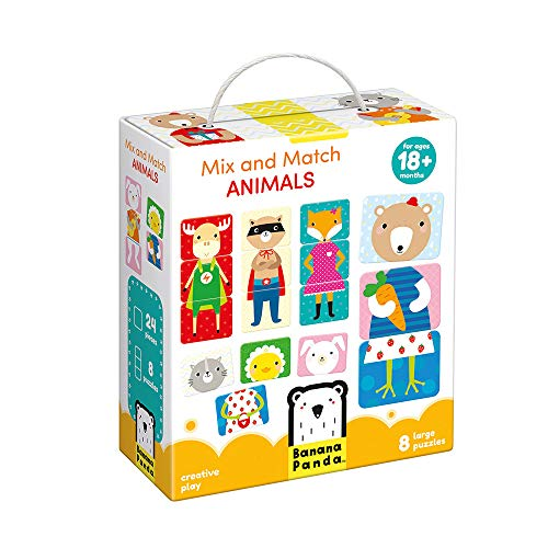 Banana Panda - Mix And Match Animals Puzzle Set - Creative Matching and Learning Activity for Kids Ages 18 Months and Up