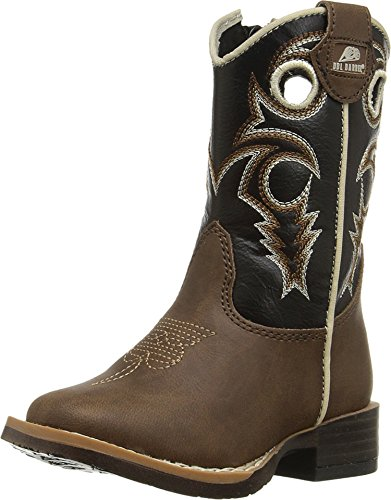 M&F Western Kids Baby Boy's Trace (Toddler) Brown/Black 6 M US Toddler -