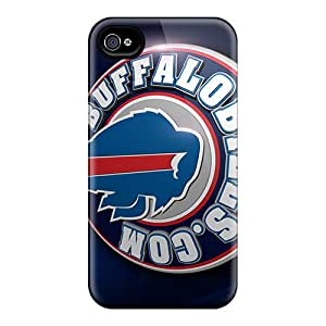 Scratch Resistant Hard Phone Cases For Iphone 4/4s (DMx6748ZODh) Support Personal Customs Realistic Buffalo Bills Skin